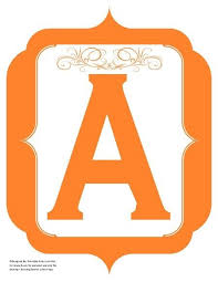 Letter For Banner Fancy Orange Printable Banners Letters Numbers