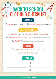 School Checklist Back To School Checklist Barca Fontanacountryinn Com