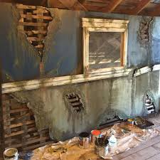 amazingly detailed haunted house wall for more detailing information visit hauntedhousestartup com haunted house diy ideas walls