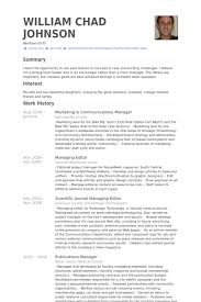 Marketing & Communications Manager Resume samples