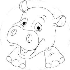 Baby Hippo Coloring Pages Raovat24hinfo