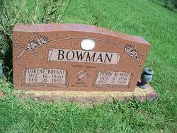 Perry M Hoye Bowman (1936-1998) - Find A Grave Memorial