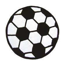 image of soccer ball 3 round area rug