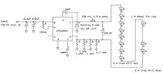 schematics of the regulator partlist ic lm3404hv elco 470 uf 63 volt capacitor 10 nf capacitor 100 nf capacitor 150 nf capacitor 2 2 uf