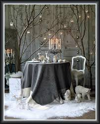 winter tablescape study in white and grey