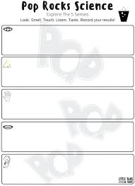 Printable Worksheets Kindergarten Science Five Senses Pop Rocks ...