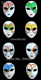 Plain White Masks To Decorate White Masquerade Masks For Halloween Women Paper Mache Decorated 16