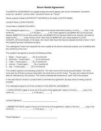 Room For Rent Contract 31 Sample Agreement Templates In Microsoft Word