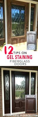 picturesque how to stain a fiberglass door staining a fiberglass door gel stained fiberglass door i