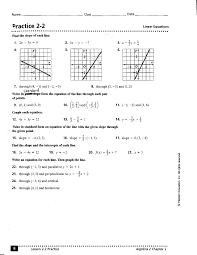 equations free worksheets for linear