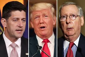 Image result for mcconnell ryan trump