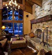 Interior:Warm Rustic Cabin Home Interior Design Ideas Rustic Decorating  Cottage Style Living Room With