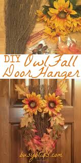 cinnamon broom decorating ideas diy owl fall door hanger busy bliss