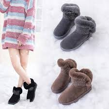sock boots women snowboots shoes woman winter korean style womens booties flat cotton botas short baby glitter womans genuine grey boots brown ankle boots