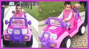 Prenses Akülü Arabamız ile Park Keyfi! Arabamızın Şarjı Bitti Yolda Kaldık  | Eğlenceli Çocuk Videosu - YouTube