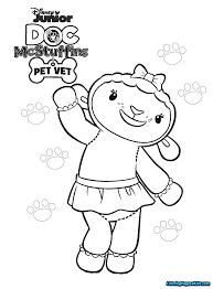 Disney Junior Coloring Pages Doc Mcstuffins Free Printable
