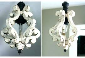chandeliersdistressed white chandelier wood decor steals mini parisian lier liers marvelous in home