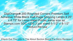 Digiorange 200 Rounded Corners Premium Self Adhesive White Blank