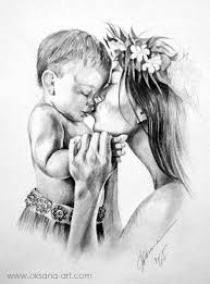 Huge Collection Of Mother Father And Baby Drawing Download More