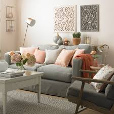 Peach-and-grey-living-room-colour-schemes