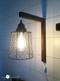 diy plug in sconces from pendant lights tutorial at mylove2create plug in track lighting fixtures plug