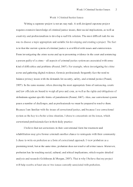 perfectessay net coursework sample apa style  2 week 1 criminal justice