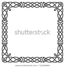 Square black frame Rectangle Celtic Pattern Square Black Frame Vector Isolated Cartoon On White Background For Shutterstock Celtic Pattern Square Black Frame Vector Stock Vector royalty Free