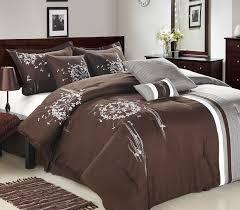image of large brown bedding set