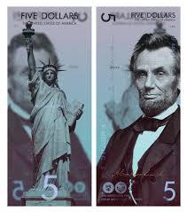 5 Dollar Design Designer Beautifully Reimagines Us Dollar Bills As Vertical