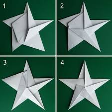 Folding 5 Pointed Origami Star Christmas Ornaments | Paper | Pinterest |  Origami stars, Origami and Christmas ornament