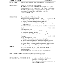 Magnificent Bank Teller Resume Objective Sample Gallery