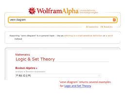 Wolfram Alpha Venn Diagram Set Theory And Logic