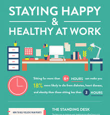 standing desk infographic. Delighful Desk Staying Happy And Healthy At Work Infographic Throughout Standing Desk S