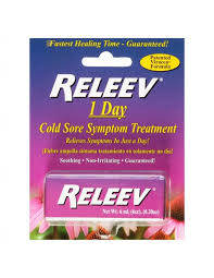 releev 1 day cold sore treatment