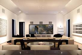 contemporary media room decorating arrangement idea. Excellent In Ceiling Speaker Placement For Music Trendy Modern Living Room  Interior Design Ideas With Home Audio Video Complate Comfortable U Shape Contemporary Media Decorating Arrangement Idea