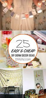 easy cheap diy dorm decor ideas