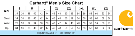 Carhartt Size Chart Mens Carhartt Mens Zip Fly Ripstop Scrub Pant