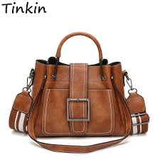 Tinkin <b>Retro Pu leather women</b> handbag larger capacity women ...