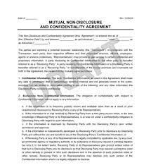 Nda Template Agreement Mutual Non Disclosure Agreement Nda Legal Templates