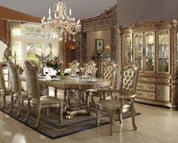 dining room sets. Gold Colored Dining Table For Italian Room Decorating Ideas With Elegant Tufted Chairs Sets