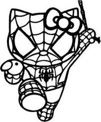 Small Picture Spider Man Hello Kitty HelloKitty Pinterest Spider