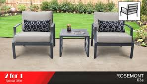 rosemont 3 piece outdoor aluminum patio