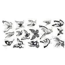 239 1ks Elegantní Nepromokavé Dočasné Tetování Krk Zápěstí Rameno Prst Tetování Třpytí šedá Motýl Tetování 24 10 Cm