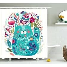 bird shower kitty with flower and bird shower curtain bird shower curtain uk
