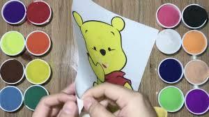 TRÒ CHƠI TÔ MÀU TRANH CÁT CHÚ GẤU POOH - Coloring Sand Painting Bear Pooh  Lovely