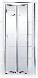 beautiful idea folding glass shower doors coastal paragon series framed bi fold double hinge door in clear for