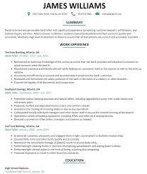 Sample Bank Resume Resume Template Sample Bank Teller Resume Free Career Resume Template 19