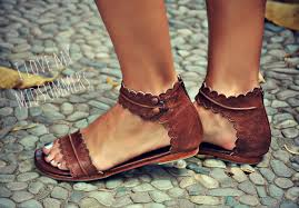 brown leather sandals women shoes leather shoes flat shoes boho shoes sizes 35 43