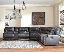 black leather sectional sofa recliner new collection u by power reclining with vig furniture 4087 red