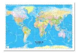 Framed World Map With Pins Framed World Map By Turner Framed World